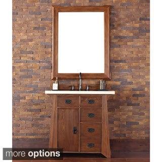 James Martin 36-inch Single Oak Bathroom Vanity