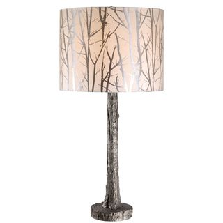 Silver Wolf Branch Design Table Lamp