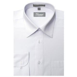 Giovanni Men's White Convertible Cuff Dress Shirt