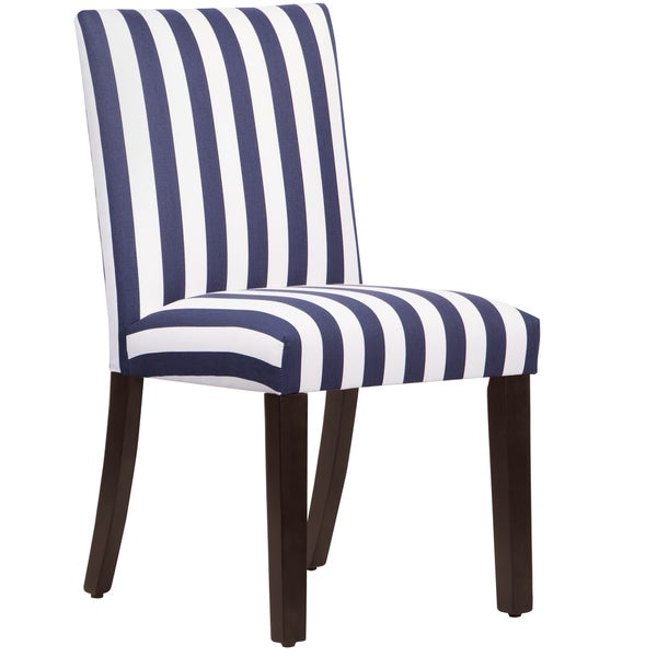 Made to Order Uptown Blue/ White Stripe Upholstered Dining Chair