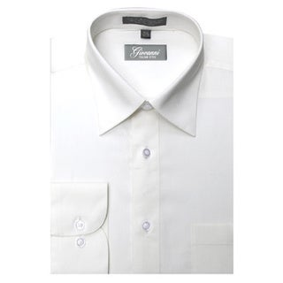 Giovanni Men's Off-white Convertible Cuff Dress Shirt