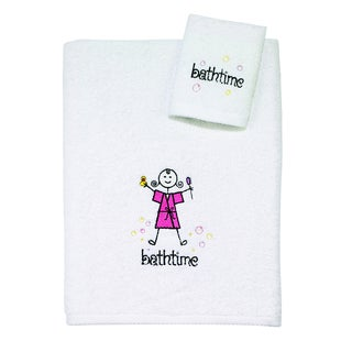 Kids Bathtime Girl 2-piece Towel Set