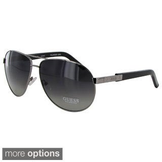 Guess Men's 1013 Polarized Metal Frame Aviator Sunglasses