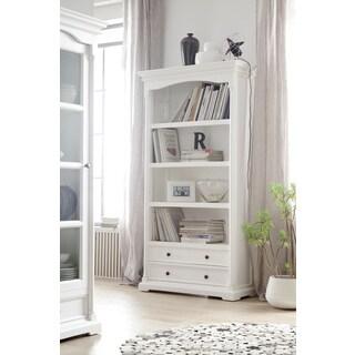 NovaSolo White Mahogany Bookcase