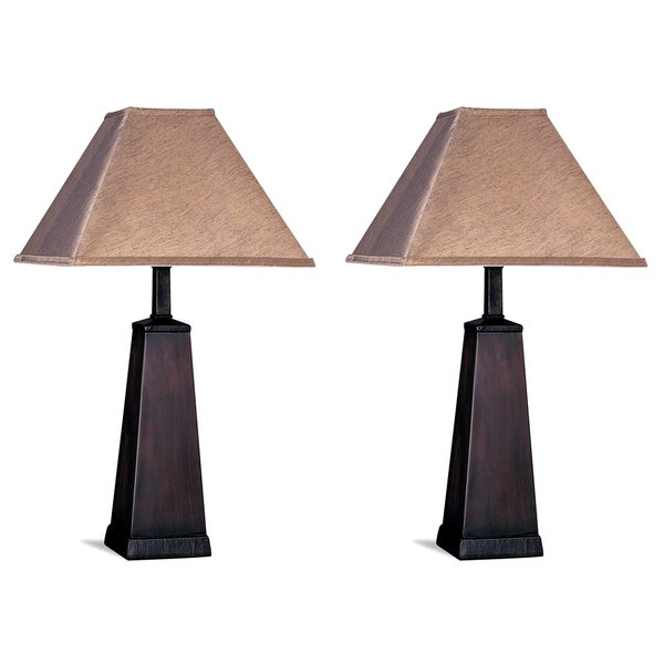 Troy Tapered Table Lamps with Matching Shade (Set of 2)