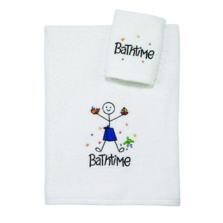 Bathtime Boy 2-piece Towel Set