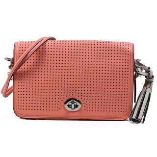 Coach Legacy Perforated Leather Penelope Coral Shoulder Bag