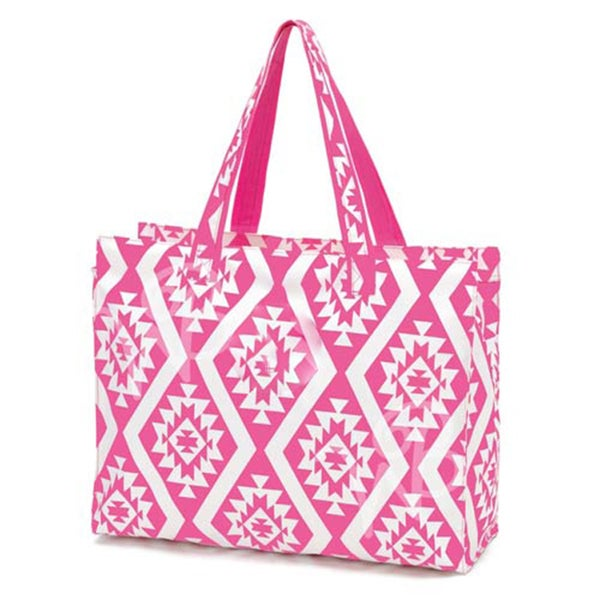 Pink Atzec Beach Bag