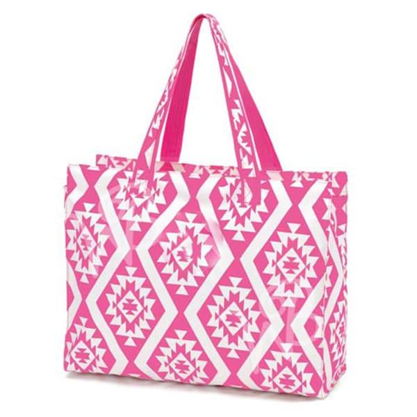 Pink Atzec Beach Bag