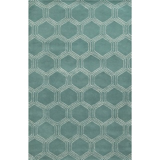 Rizzy Home Gillespie Avenue Hand-tufted Wool and Viscose Accent Rug (8' x 10')