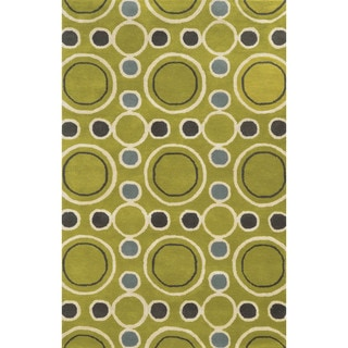 Rizzy Home Hand-tufted Gillespie Avenue Wool and Viscose Accent Rug (8' x 10')