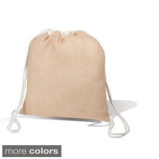 The Environmentalist Jute Drawstring Backpack