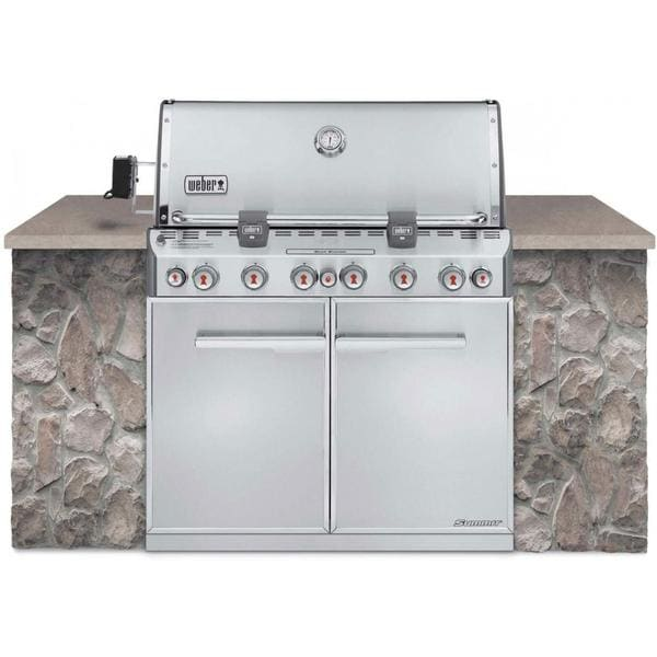Weber Summit S-660 6-Burner Built-In Stainless Steel Natural Gas Grill