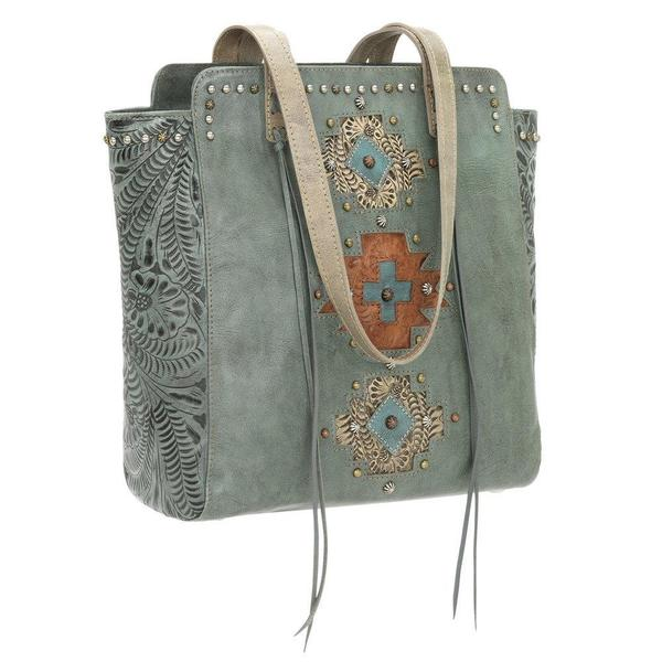 American West Navajo Soul Leather Tote Bag
