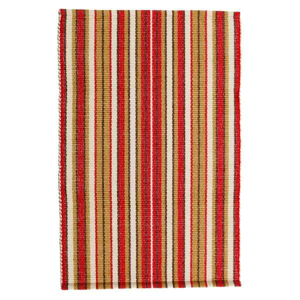 Hot Chili Cotton Stripe Rug (8'x10')