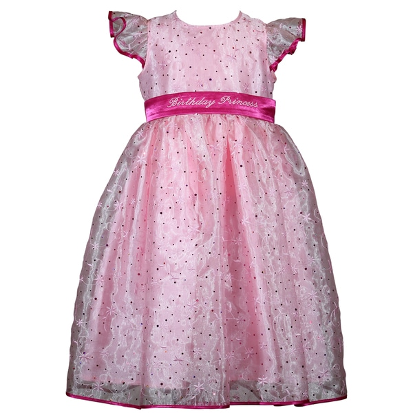 Treasure Box Kids Pink Sparkle Birthday Dress