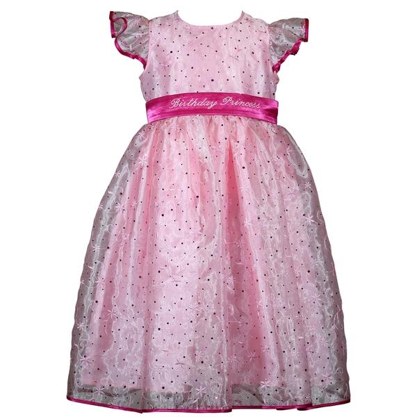 Treasure Box Kids Pink Sparkle Birthday Dress