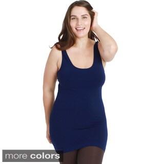 Nikibiki Women's Plus Size Seamless Basic Jersey Tank Top