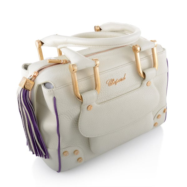 Chopard Caroline Mini White/ Purple Leather Handbag
