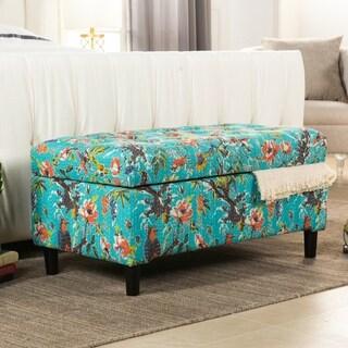 Jennifer Taylor Rectangular Upholstered Storage Bench