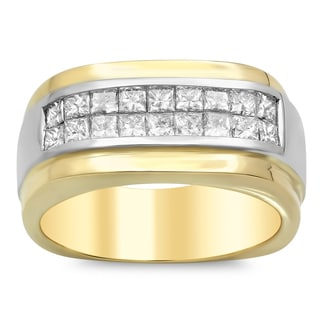 14k Gold Men's 1 7/8ct TDW Diamond Ring (E-F, VSI1-VS2)