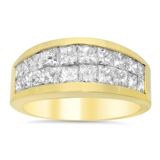 18k Yellow Gold 2ct TDW Diamond Ring (E-F, VS1-VS2)