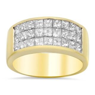 18k Yellow Gold 2 1/4ct TDW Diamond Ring (E-F, VS1-VS2)