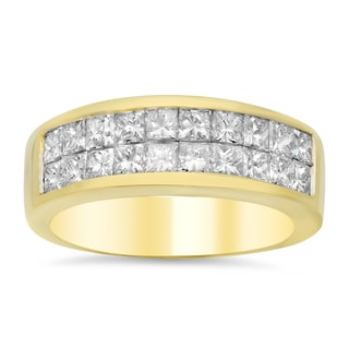 18k Yellow Gold 1 1/2ct TDW Diamond Ring (E-F, VS1-VS2)