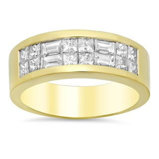 18k Yellow Gold 1 1/10ct TDW Diamond Ring (E-F, VS1-VS2)