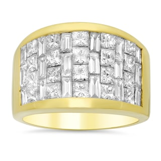 18k Yellow Gold 3 1/2ct TDW Diamond Ring (E-F, VS1-VS2)