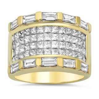 18k Yellow Gold 3 3/4ct TDW Diamond Ring (E-F, VS1-VS2)
