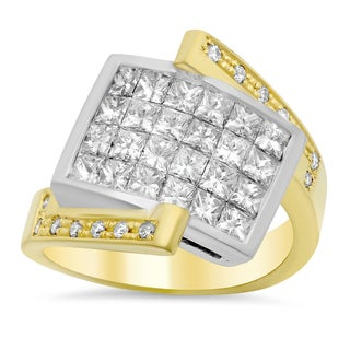 18k Two-tone Gold 2 1/3ct TDW Diamond Ring (E-F, VS1-VS2)