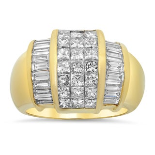 Artistry Collections 14k Yellow Gold 3 2/5ct TDW Diamond Ring (E-F, VS1-VS2)