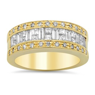 14k Yellow Gold 1 5/8ct TDW Diamond Ring (E-F, VS1-VS2)