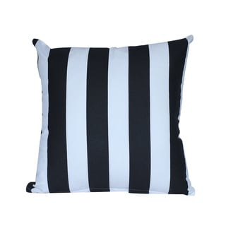 Cotton Black and White Stripes 16 x 16-inch Decorative Throw Pillow Cover