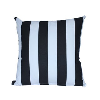 Cotton White/ Black Striped Throw Pillow