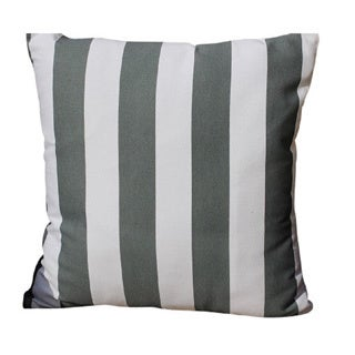Decorative Cotton Grey, White Stripe Printed Throw Pillow Cover