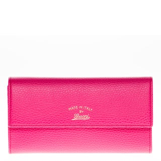 Gucci Swing Leather Pink Continental Wallet