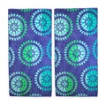 Superior Oversized Spin Wheels Jacquard Cotton Beach Towels (Set of 2)
