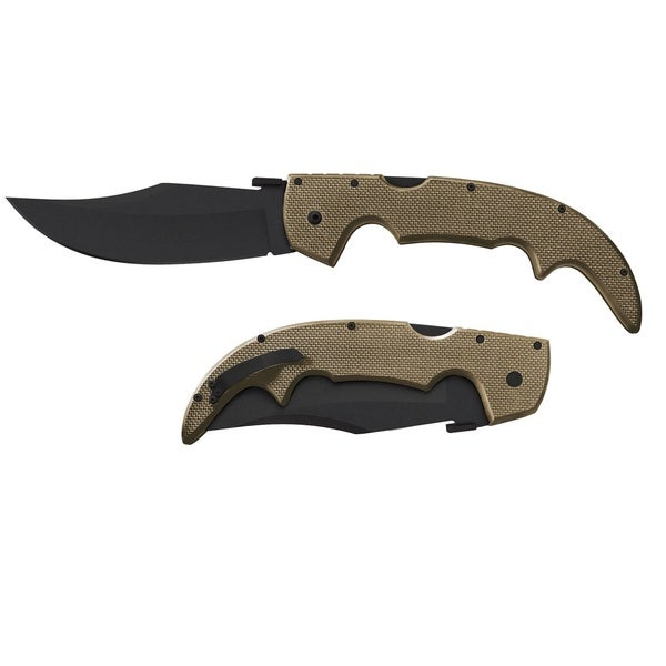 Cold Steel Large Plain Edge 5.5-inch Coyote with Black Hardware