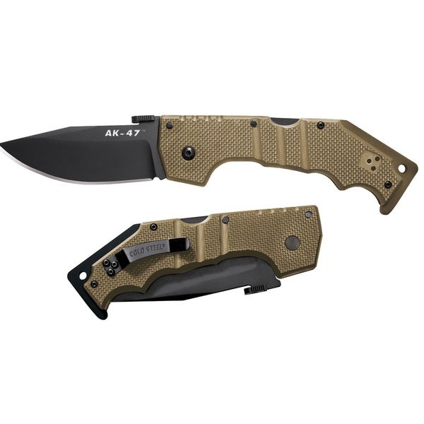 Cold Steel AD-47 Folder 4-inch Coyote with Black Hardware