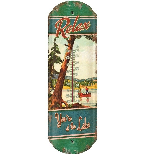 Rivers Edge Tin Thermometer
