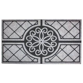 """Printed Flocked Medallion Granite Doormat (18"""" x 30"""")"""