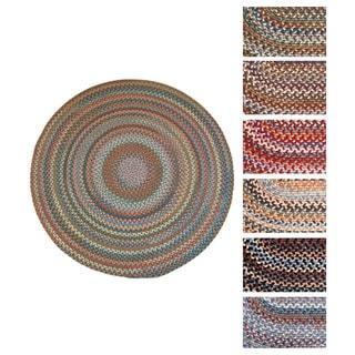 Rhody Rug Augusta Wool Braided Area Rug (4' Round)