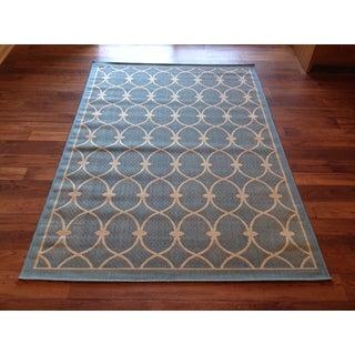 """Indoor/ Outdoor Light Blue Area Rug (5'2""""x 7'6"""")"""