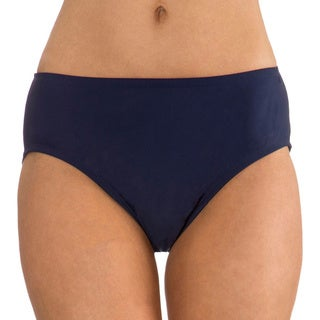 Mazu Swim Women's Navy Mid Waist Swimsuit Brief