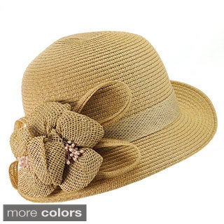KC Signatures Women's Classic Cassidy Floral Corsage Fedora