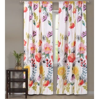 Greenland Home Fashions Watercolor Dream 84-Inch Curtain Panel Pair