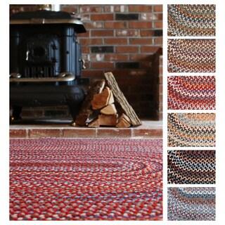 Rhody Rug Augusta Wool Oval Braided Area Rug (10' x 13')