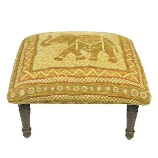 Corona Decor Vintage Elephant Design Footstool/Ottoman